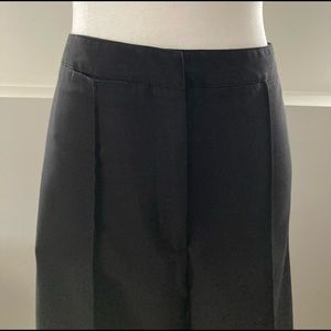 Cynthia Rowley black wide leg cropped trousers